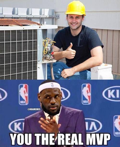 NBA MEMEs: LeBron James' MVP TONIGHT: The guy who FIXED the AC! #Heat… - http://weheartlakers.com/nba-memes/nba-memes-lebron-james-mvp-tonight-the-guy-who-fixed-the-ac-heat