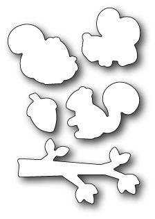 Poppystamps Craft Die - Cover Squirrel