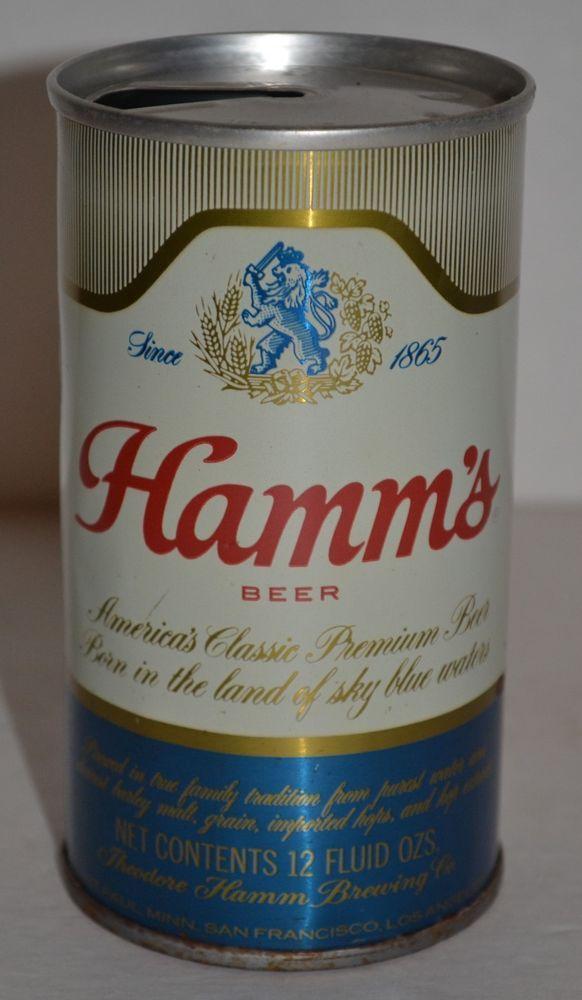Hamm's Beer Vintage Pull Tab Steel Beer Can 12 Fluid Ounces St. Paul #HammsBeer