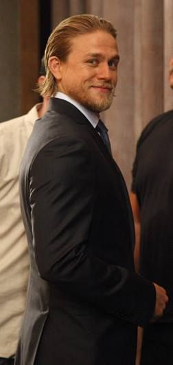 Charlie Hunnam  ...and that smirk!!  I'm glad he dropped the Fifty Shades role. He is too much of a badass for such a cheezy role. Good for you, Charlie!