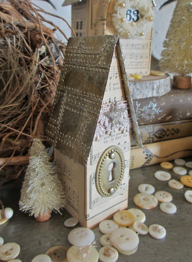 artful christmas village uses sizzix alterations artful dwellings die from tim holtz and