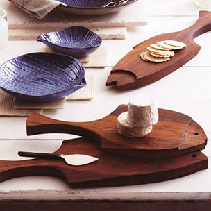Fish Cutting Boards - Carved from shesham wood. Food safe. Small, medium and large. Sale $29.99.