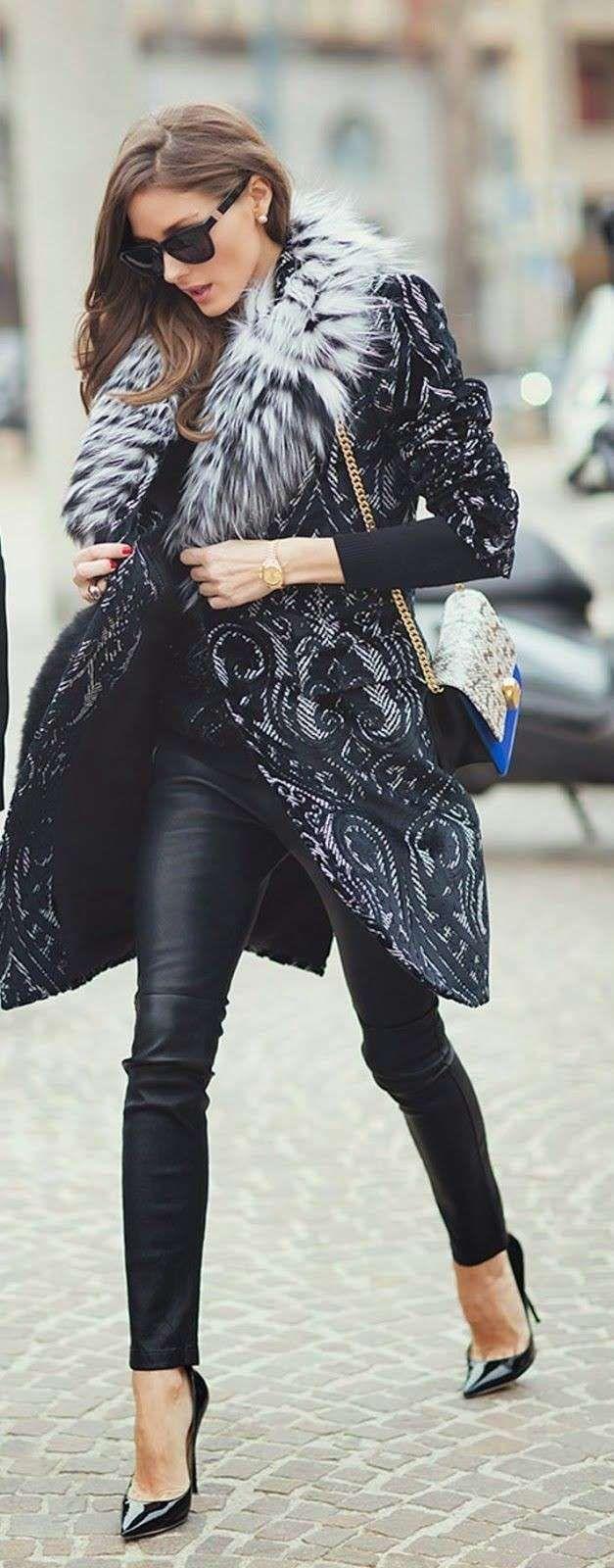Look con pantaloni di pelle - Look di Olivia Palermo