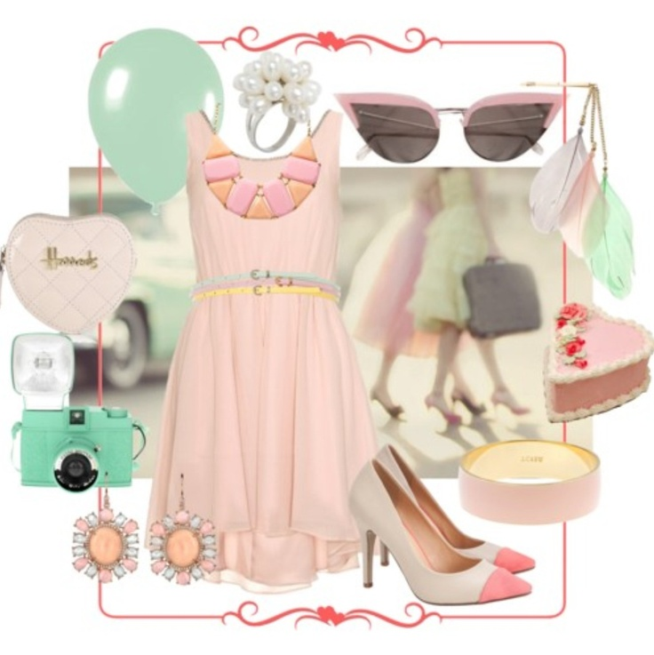 Cool stuffPastel Cerveza Tennis, Super Cute Outfit, Cute Outfits, Perfect Pastel, Delicious Fashion, Pastel Fashion, Polyvore, Pastel Palettes, Cool Stuff