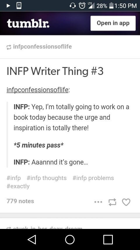 As a fellow INFP, this is too true