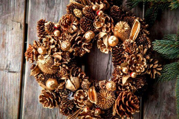 рождественские венки из шишек: 14 тыс изображений найдено в Яндекс.Картинках