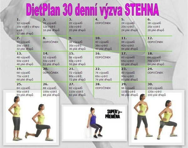 30 denní výzva stehna