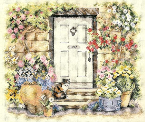 images  cross stitch gardens houses