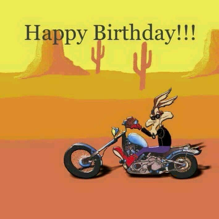 Wile E Coyote Happy Birthday Biker Happy Birthday Man Happy