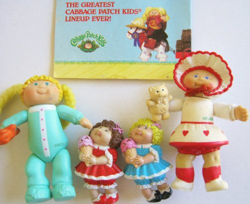 I had about a ton of both the bigger and smaller ones of these Cabbage Patch Kids. I miss them.