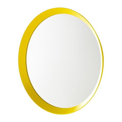 LANGESUND Mirror IKEA Safety film  reduces damage if glass is broken. Can be used in high humidity areas.
