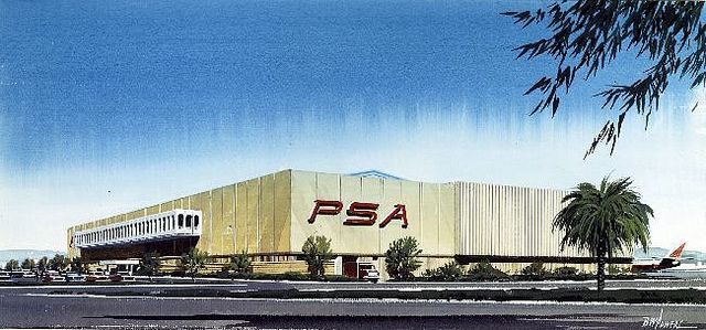 PSA Corporate offices and hangar located at Lindbergh Field, San Diego