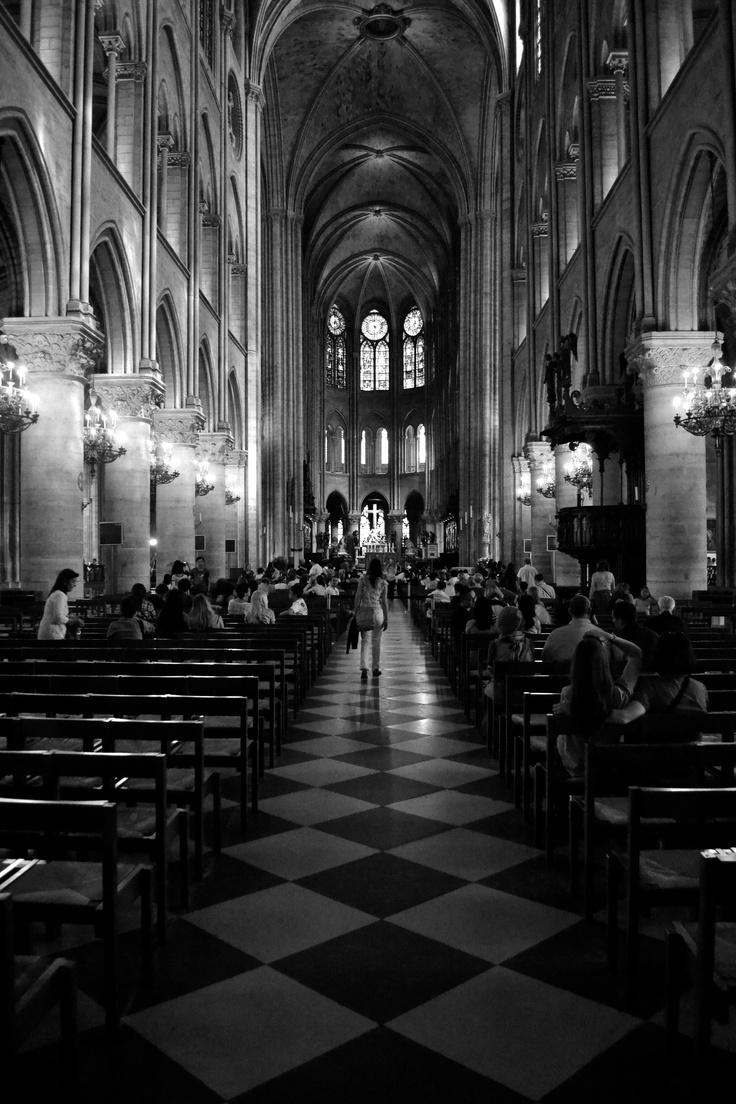 Indoor of Notre-Dame de Paris