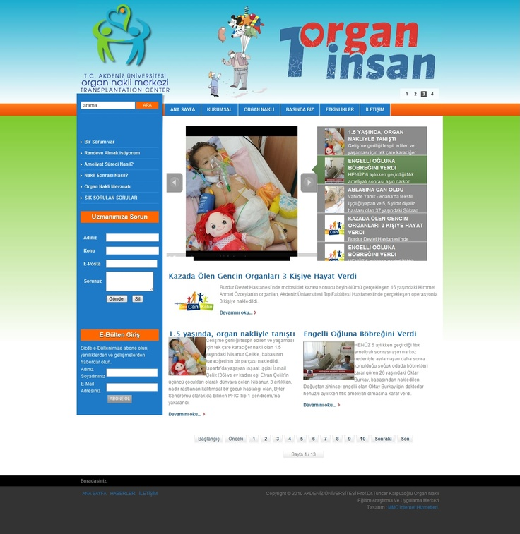 Akdeniz Transplantation Center Web Design