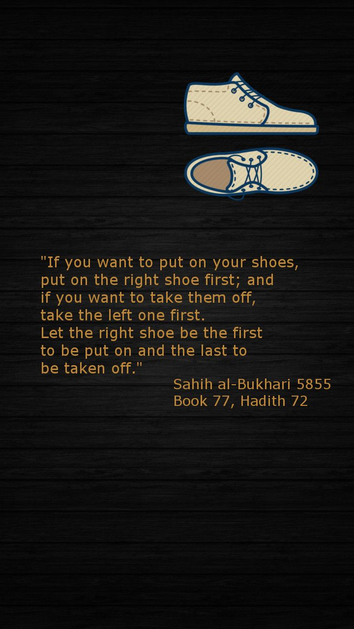 The #Sunnah of wearing shoes