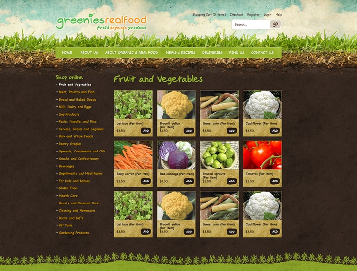 Nature Website Design. Greenies Website Design by Captovate, Darwin