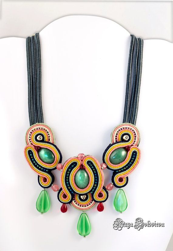 Soutache Statement Necklace