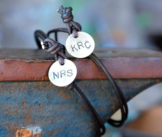 Couple Bracelets...getting these for our 6 month anniversary :) $28.00, via Etsy.