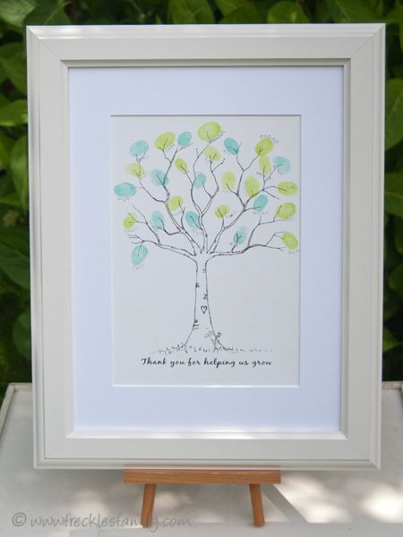 Teacher Retirement/Thank you gift. Thumbprint Tree