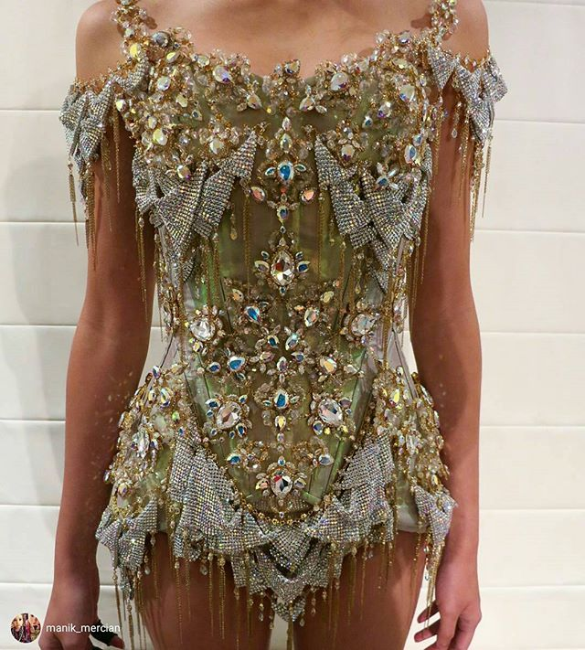 The gorgeous bejeweled fairy dress that Katy Perry wore with my Titania wings…