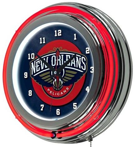 NBA New Orleans Pelicans Team Logo Wall Clock