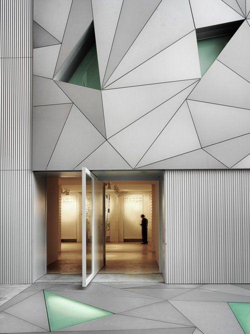 Sleek faceted design