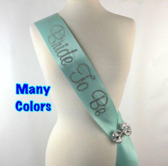 Glitter Sash Many Colors Custom Bridal Sash por BridalBlissCouture