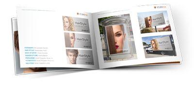 Servizio Fotografico Moda Capelli Hairstyles - Brochure Campagna Pubblicitaria