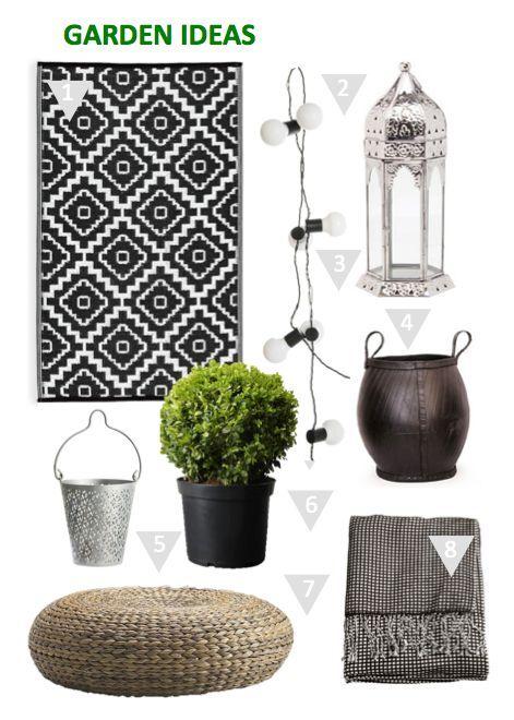 Legende Ideen für skandinavischen Gartenbalkon oder Terrasse