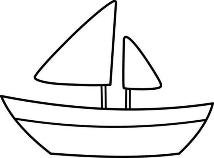 Boat Coloring Pages Printable In 2020 Simple Boat Coloring