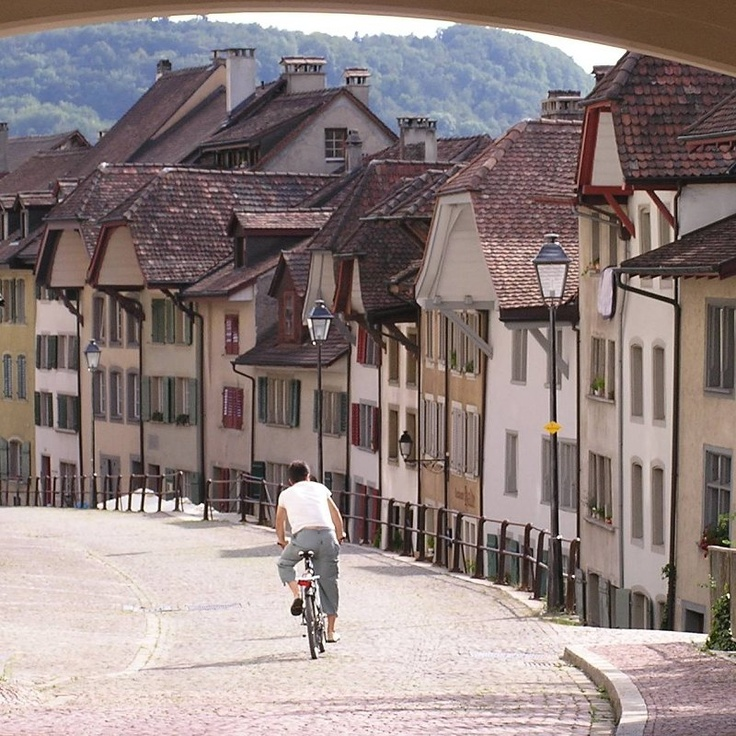 Downhill in Aarau, Switzerland