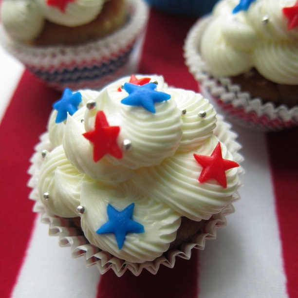 4th of july cupcake cups