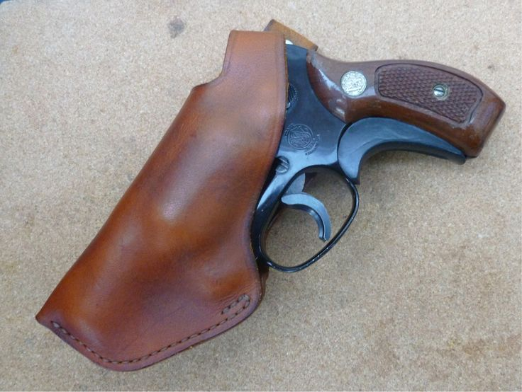 Classic detective style back snap quick draw OWB holster for snub nose .38 revolvers - custom made from makeitjones.co.uk