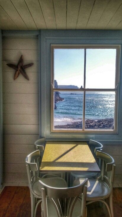 Beach cafe at Kynance Cove by MM