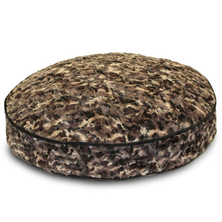 The Luxe Pup Faux Fur Round Dog Bed comes in leopard and snow fur. Comfortable and provides support. Machine washable cover. Purchase today!