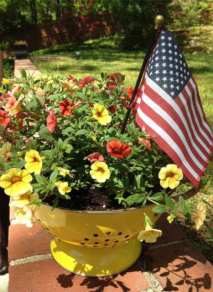 Find This Pin And More On 4th Of July Planters By Arizonapottery.