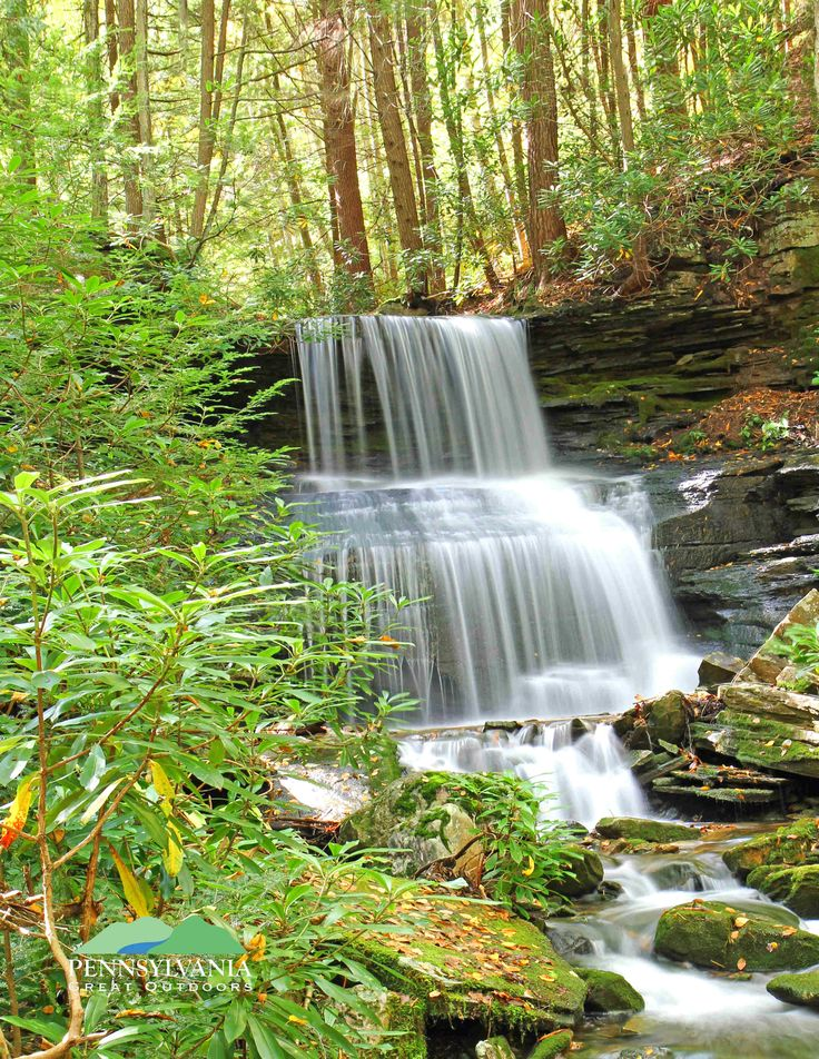 Table Falls waterfall located in Cameron County, Pennsylvania.  Photo credit Tom Dorsey