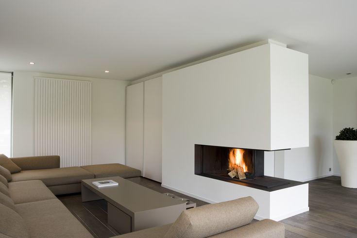 55 best living room images on pinterest - Deco moderne open haard ...