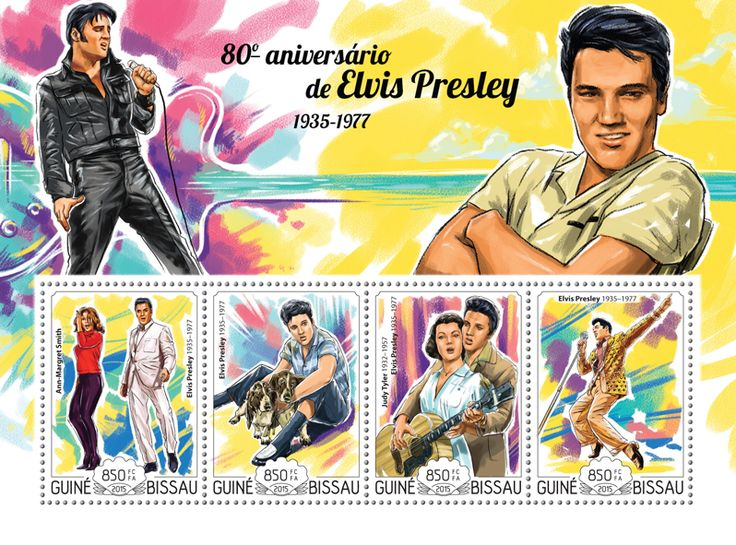Post stamp Guinea-Bissau GB 15112 a80th anniversary of Elvis Presley (1935–1977)