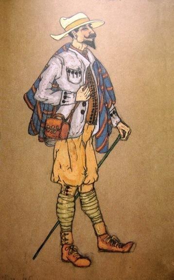 Н.К.Рерих. Эскиз мужского костюма (Пер Гюнт). 1912