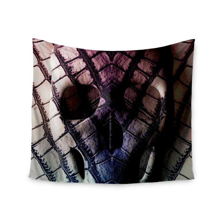"Danny Ivan ""Skull"" Dark Purple Wall Tapestry"