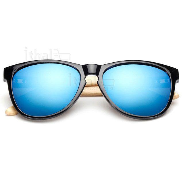 UV400 Korumalı, Gerçek Ahşap Güneş Gözlükleri - IGD090613429 - Vintage Güneş Gözlükleri, Ayna Camlı Güneş Gözlükleri, Bambu Güneş Gözlükleri