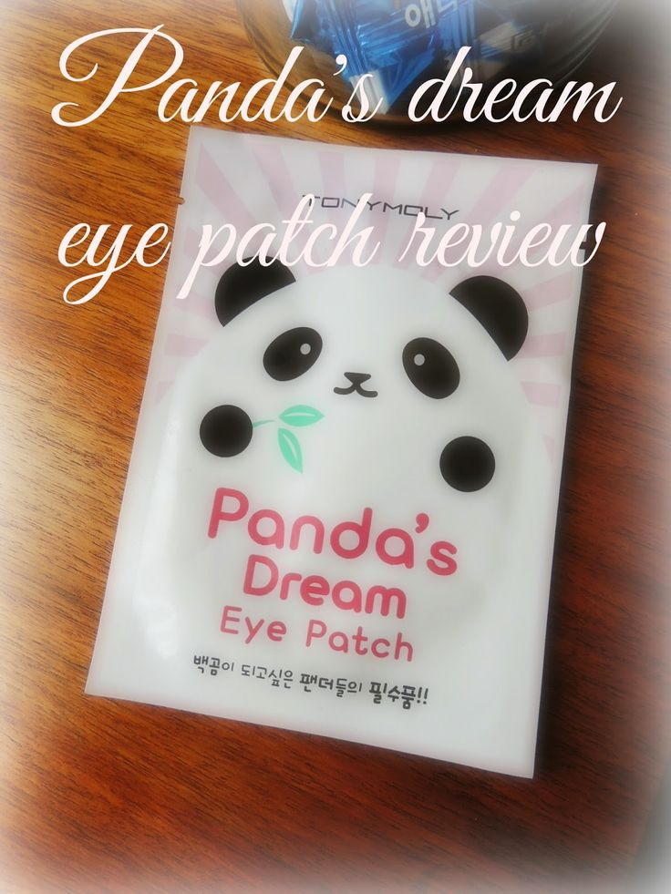 [Tony Moly] Panda's dream eye patch review