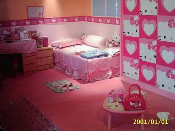 Here Is Cute Hello Kitty Bedroom Accessories Theme Ideas For Girls Photo  Collections At Teen Bedroom Design Gallery. More Picture Hello Kitty Bedroom  ... Part 40