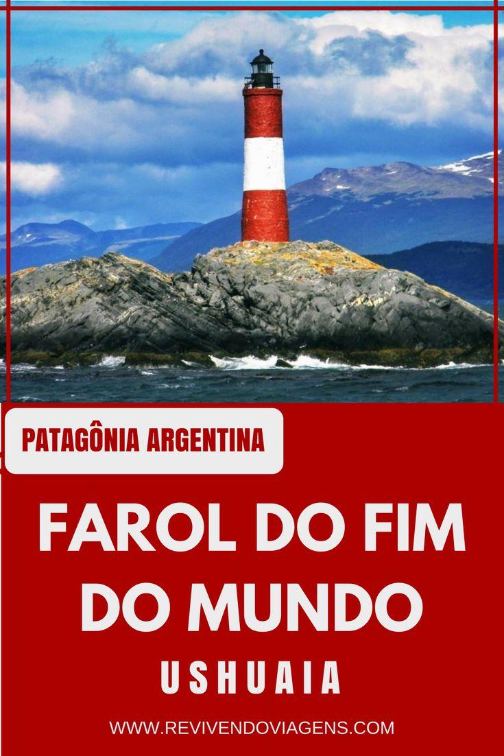 O Farol do Fim do Mundo, é um dos principais cartões postais de Ushuaia, na Patagônia Argentina. América do Sul.