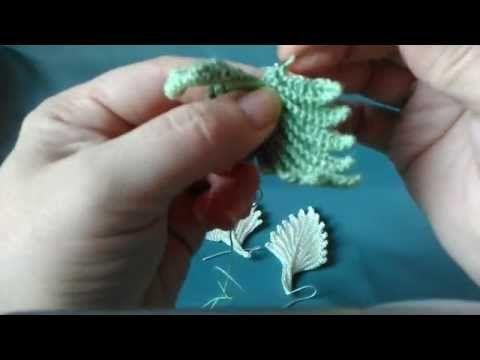 """Irish lace Уроки вязания крючком ирландского кружева. 1й Урок удлинённый жилет""""Бургундия"""" - YouTube"""