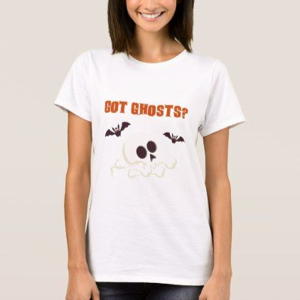 #Halloween Got Ghost with bats and skull T-Shirt - #halloween #boo #clothing #shirts #apparel #shirt #outfit