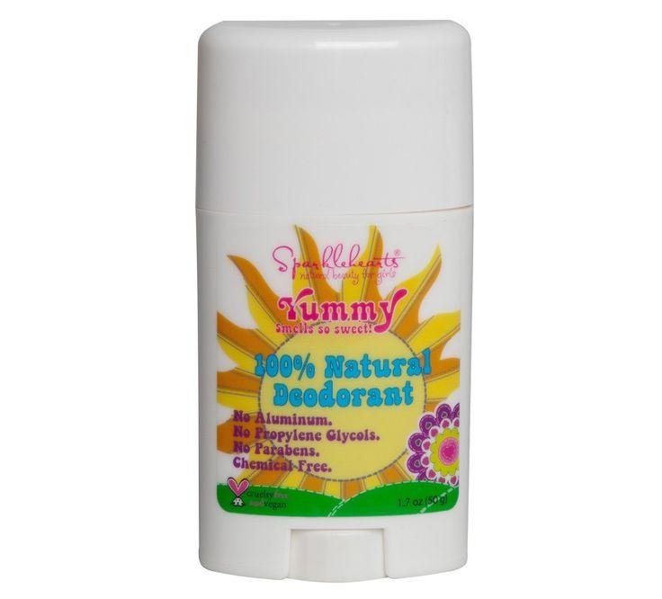 Een 100% natuurlijke deodorant voor meisjes. Zeer zacht en niet irriterend voor de huid. Zonder schadelijke chemische stoffen.