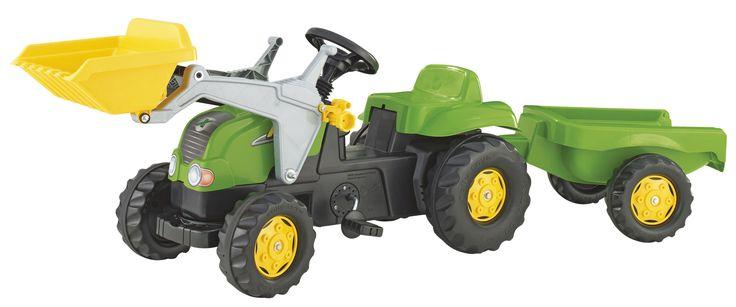 Rollykid-x traktor markolóval es utánfutóval