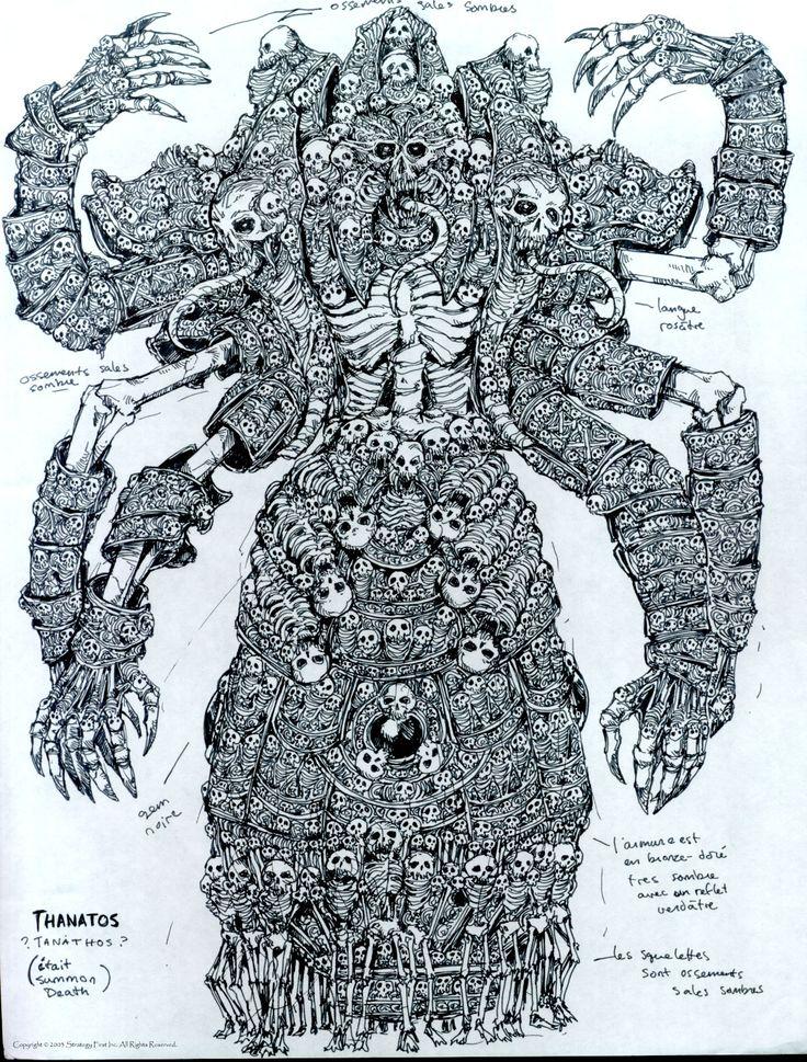Концепт-арт Disciples 2 - Танатос (призываемое существо Орд нежити)